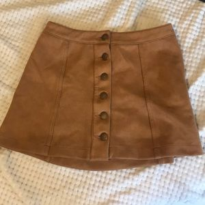 Cute short skirt with six buttons
